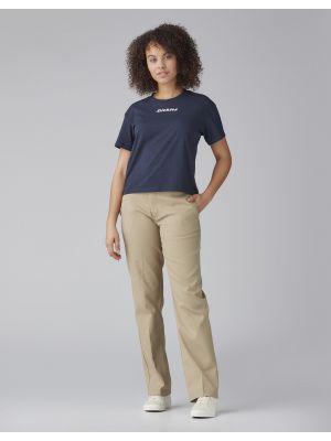 DICKIES WOMAN'S Logo T-Shirt, Dark Navy 757250