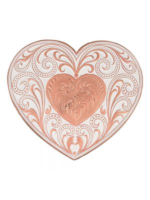 Montana Silversmiths Copper Finish Heart Whispers Buckle 27400C