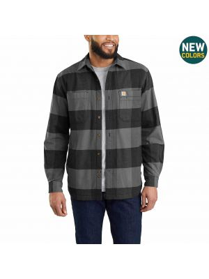Carhartt Men's RUGGED FLEX® HAMILTON FLEECE-LINED SHIRT JAC 103315