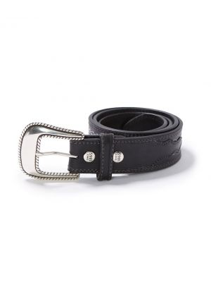 Stetson GRINNELL BELT IN BLACK 1071S