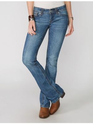 Stetson 818 FIT LIGHT WASH JEANS WITH FLAP BACK POCKETS AND HEAVY TOP 11-054-0818-0370