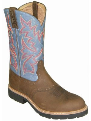 Twisted X Men's Denim Blue Cowboy Pull-On Work Boots 050X58