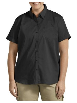 DICKIES WOMEN'S Plus Size Stretch Button-Up Shirt FSW212