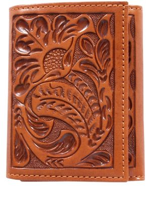 3D Natural Western Trifold Wallet 3D-AW103