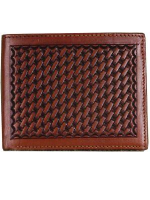 3D Tan Western Bifold Wallet 3D-AW81