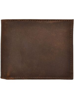 3D Brown Basic Bifold Wallet 3D-W1022