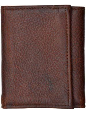 3D Dark Brown Basic Trifold Wallet 3D-W1030