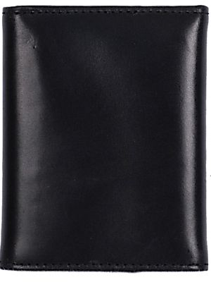 3D Black Basic Trifold Wallet 3D-W158