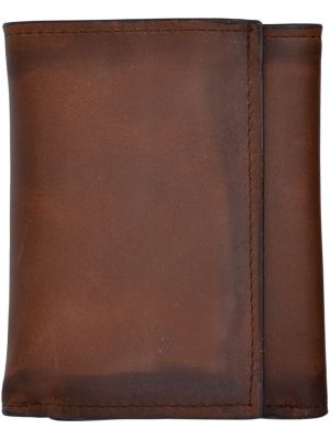 3D Brown Basic Trifold Wallet 3D-W634