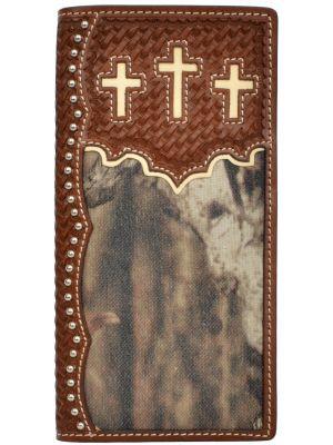 3D Brown Western Rodeo Wallet 3D-W704