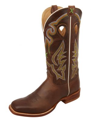 Twisted X Men's Ruff Stock Rancher Western Boots 2000274217