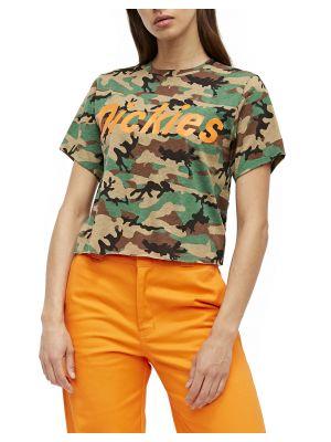 DICKIES WOMEN'S Genuine Logo Cropped Camo T-Shirt T112B