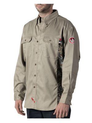 Walls Men's Flame Resistant Oilfield Camo Work Shirt 56144