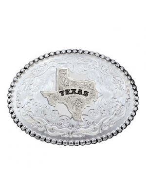 Montana Silversmiths Antiqued Silver 6189 Series Texas State Western Belt Buckle 6189SV-610TX