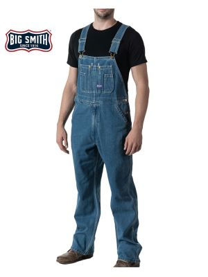 Walls Men's Big Smith® Stonewashed Denim Bib Overall 94028