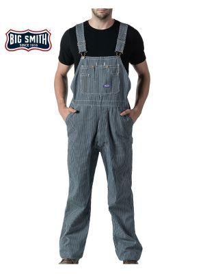 Walls Men's Big Smith® Hickory Stripe Zip Fly Bib 94031