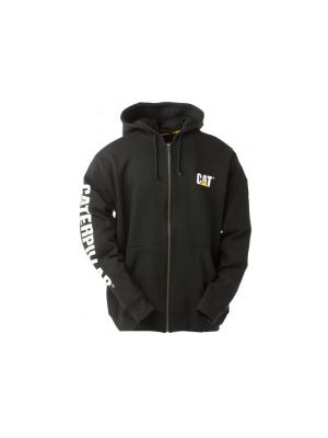 Cat Men's Full Zip Hoodie Banner Sweatshirt 5279