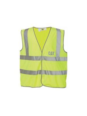 Cat Men's Green Hi Visibility Safety Vest 1019