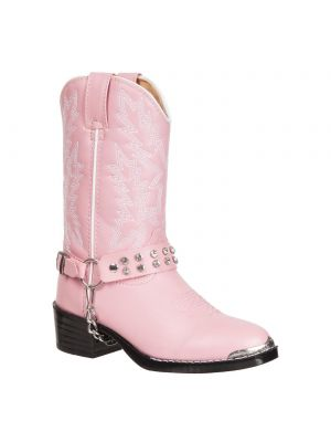 Durango Youth Pink Rhinestone Western Boot BT568