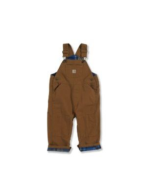 Carhartt BOYS FLANNEL LINED CANVAS BIB OVERALLS CM8645