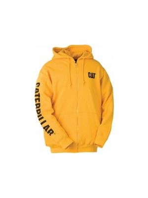Cat Men's Full Zip Hoodie Banner Sweatshirt 5280