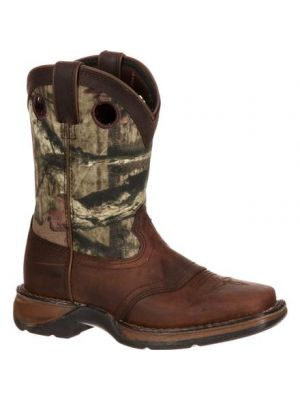 Durango Lil' Durango Big Kid Camo Saddle Western Boot DBT0121
