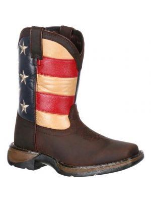 Durango Lil' Rebel by Durango Big Kids' Flag Western Boot DBT0160