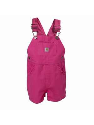 Carhartt GIRLS INFANT/TODDLER BIB SHORTALL CM9649