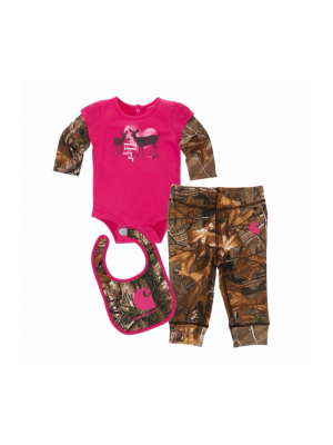 Carhartt GIRLS CAMO 3PC GIFT SET CG9675