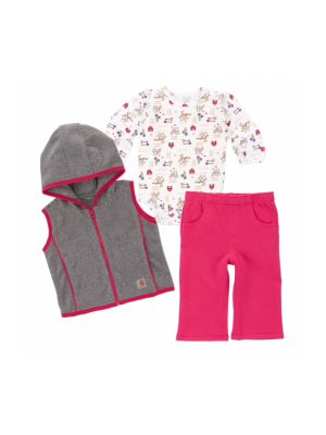 Carhartt GIRLS BARNYARD FRIENDS 3 PC PANT SET CG9672