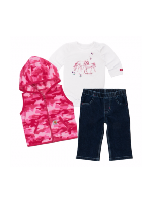 Carhartt GIRLS HORSE FRIENDS 3 PIECE PANT SET CG9673