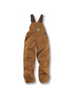 Carhartt BOYS DUCK WASHED BIB OVERALL - SIZES 8-16 CM8601