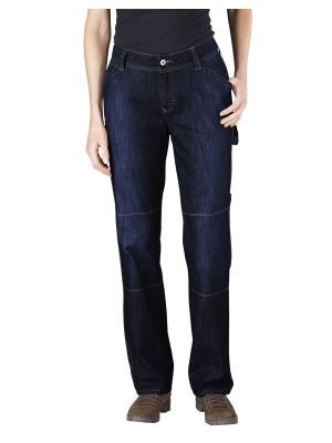 Dickies Women's Relaxed Fit Carpenter Denim Jean FD230 Dark Indigo Black (DIB)