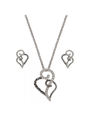 Montana Silversmiths Woven Hearts Jewelry Set JS2234