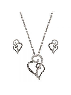 Montana Silversmiths Woven Hearts Jewelry Set JS2234