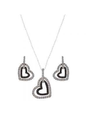 Montana Silversmiths Hearts Deep Reflection Jewelry Set JS2236