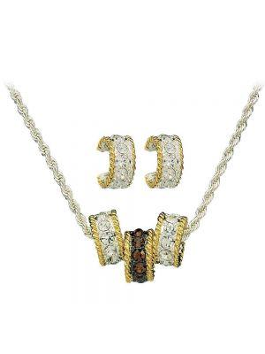 Montana Silversmiths Topaz Crystal Shine Triple Rings Jewelry Set JS61133