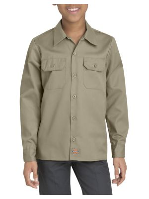 Dickies Boys' Twill Long Sleeve Shirt KL921