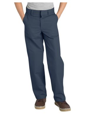 Dickies Boys' Classic Fit Straight Leg Flat Front Pant, 8-20 Husky KP0123