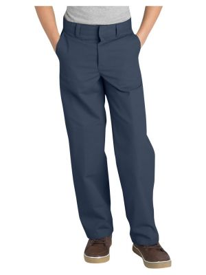 Dickies Boys' Classic Fit Straight Leg Flat Front Pant, 8-20 KP123