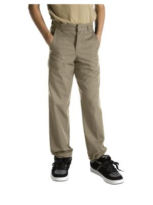 Dickies Boys' Classic Fit Straight Leg Flat KP3123