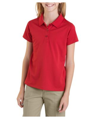 Dickies Girls' Performance Short Sleeve Polo, 7-20 KS955