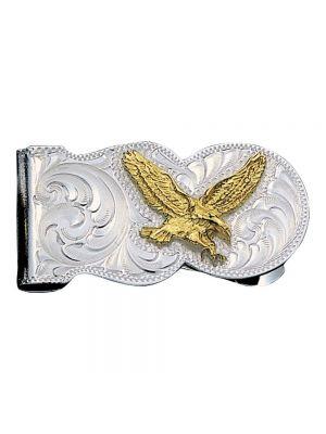 Montana Silversmiths Eagle Scalloped Money Clip MCL5