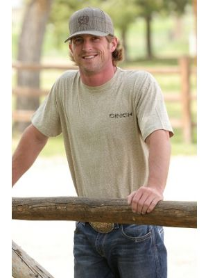 Cinch MENS SNOW HEATHERED KHAKI TEE MTT1690243