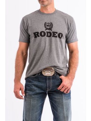 Cinch MENS GRAY COTTON-POLY TEE SHIRT MTT1690256