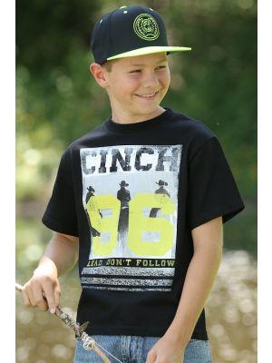 Cinch BOYS COTTON BLACK TEE SHIRT MTT7670044