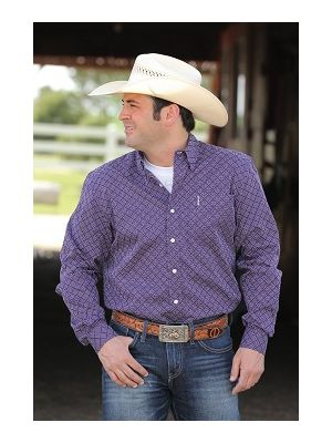 Cinch MENS PURPLE GEOMETRIC PRINT MTW1343036