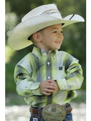 Cinch INFANT MATCH DAD OMBRE PLAID BUTTON-DOWN SHIRT MTW7062157