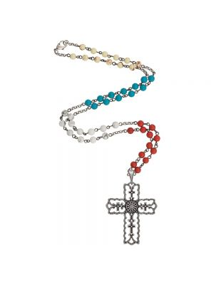 Rock 47 Vintage Kitsch Scalloped Cross Necklace NC2597R47