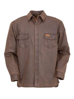Outback Trading Company Men's Loxton Jacket 2875-BRN-LG